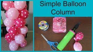 getlinkyoutube.com-How to Make A Simple Balloon Column
