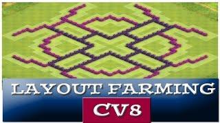 Cv8 Layout de FARM Top - Usado e aprovado! - CLASH OF CLANS