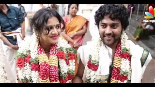 getlinkyoutube.com-Kayal Chandran and Vj Anjana Marriage Video | Wedding Reception