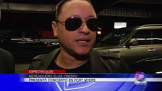 Elvis Crespo puso a bailar a los presentes en su concierto en Fort Myers