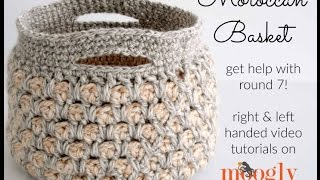 How to Crochet: Moroccan Basket (Right Handed)