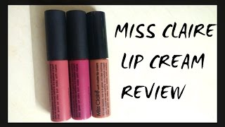 getlinkyoutube.com-MISS CLAIRE lip cream review and lip swatches(DUPE for nyx lip cream)