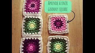 getlinkyoutube.com-Cómo unir granny square - How to join granny square