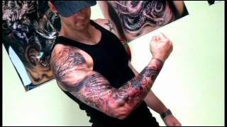 getlinkyoutube.com-FULL SLEEVE TATTOO.wmv