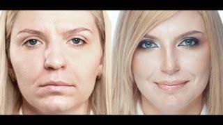 getlinkyoutube.com-Сексуальный вечерний макияж. Коррекция носа. Sexy evening make-up. (Урок №14)