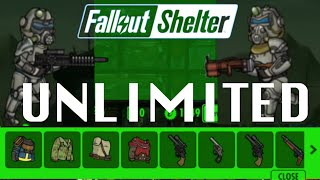 getlinkyoutube.com-How to get UNLIMITED Weapons & Outfits in FALLOUT SHELTER Glitch (No Cheat/Hack) | iOS