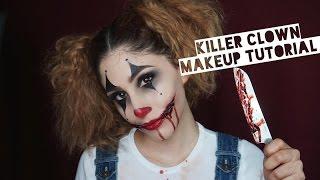 getlinkyoutube.com-Killer Clown Makeup Tutorial | How To Create Cut Mouth