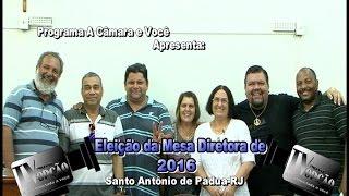 Eleição Presidente da Câmara de Vereadores S. A. Pádua-RJ