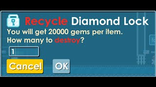 Growtopia | Recycling One Diamond Lock !