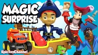 getlinkyoutube.com-SURPRISE TOYS MAGIC Where is Disney Pirate Jake? + Paw Patrol, Blaze and a Disney CARS Toy Surprise