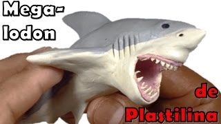 getlinkyoutube.com-Como hacer un megalodon de plastilina / How to make a megalodon clay
