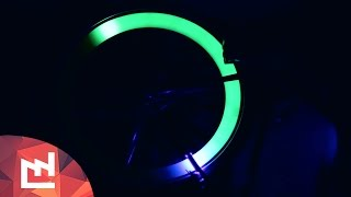 getlinkyoutube.com-DIY project : Glowing bike with ultraviolet LEDS