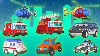 getlinkyoutube.com-Emergency Vehicles | Vehicles for Kids | Rescue Trucks | 3D Video