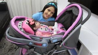 getlinkyoutube.com-Review do carrinho e do bebê conforto da minha bebê reborn