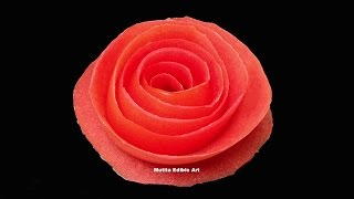 getlinkyoutube.com-Tomato Rose Flower - Beginners Lesson 12 By Mutita The Art Of Fruit And Vegetable Carving Tutorial