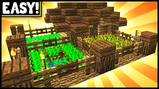getlinkyoutube.com-Compact & Efficient Farmhouse! - Minecraft Tutorial
