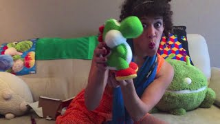 getlinkyoutube.com-Miz Sylver unboxing Mega Yarn Yoshi Amiibo Full Mega Version