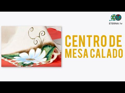 Pintura para Tela sobre un Centro de mesa calado - Sonia Nuñez en Bienvenidas Tv