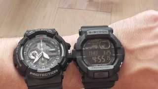 getlinkyoutube.com-Casio G-shock GD350-1B vs GAC100-1A