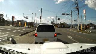 getlinkyoutube.com-【ドラレコ】スタートとともにやらかす軽自動車
