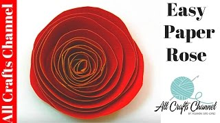 getlinkyoutube.com-How to make an Easy Paper Rose