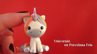 getlinkyoutube.com-Unicornio en Porcelana Fria / Cold Porcelain