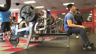 getlinkyoutube.com-410 RAW bench press at 154lb 154 body weight with rep scheme 3-23-15