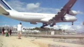 getlinkyoutube.com-Air France A340 landing Princess Juliana Int.  st Maarten