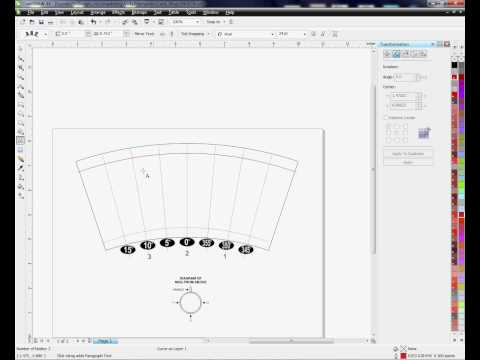 Using the Arch Tool in Corel Draw for Curved Templates (Latte Mug or Shot Glass)