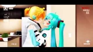 getlinkyoutube.com-【 MMD Short 】【 Len x Miku 】 NU, U CANT KISS ME
