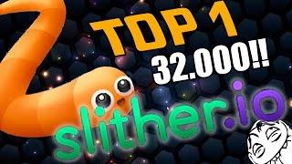 getlinkyoutube.com-Como llegar al TOP 1 en Slither.io con 32.000 PUNTACOS!! el nuevo agar.io