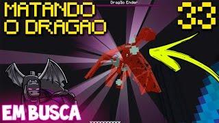 getlinkyoutube.com-MATANDO O ENDER DRAGON !! Minecraft PE 1.0.4 Em Busca do Dragão EP.33