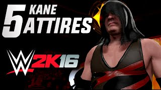 getlinkyoutube.com-WWE 2K16: Kane - 5 Attires for 2K16 (Most Wanted)