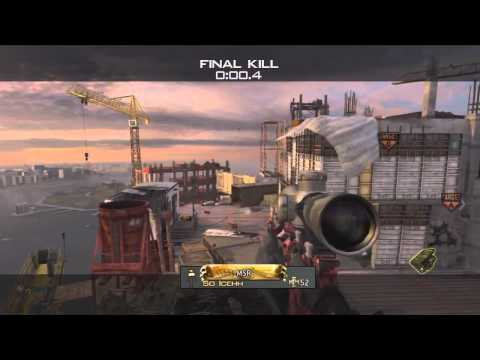 Sick MW3 Suicide Crane Shot Killcam (Overwatch New Map DLC)