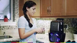 getlinkyoutube.com-Singing Machine Agua Dancing Water Fountain Karaoke System with LED Lights