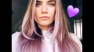 getlinkyoutube.com-Tinge Temporary Pastel Conditioner - Purple!