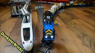 getlinkyoutube.com-Super Long LEGO Train Track Setup! With Modified Cargo and Passenger Trains