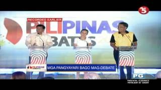 getlinkyoutube.com-Duterte, Poe, and Roxas trying to entertain the crowd (Pre-debate Part 1)