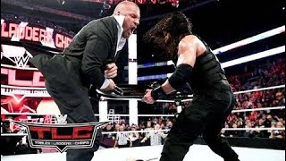 WWE Roman Reigns vs Sheamus After Match Roman Reings Destroy Triple H at - TLC HD