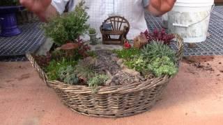 getlinkyoutube.com-Planting a Miniature Garden Container