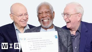 Morgan Freeman, Michael Caine, and Alan Arkin Answer the Web's Most Searched Questions | WIRED width=