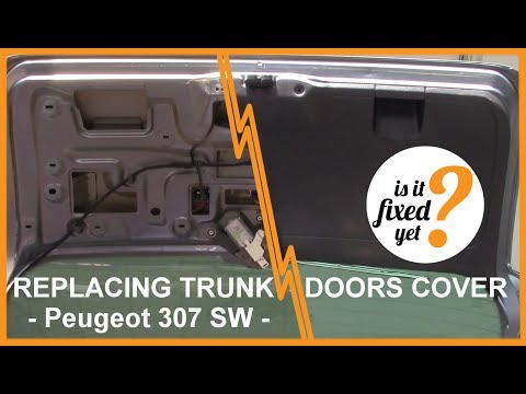 How to Remove and Reinstall TRUNK DOORS PLASTIC COVER - Peugeot 307 SW