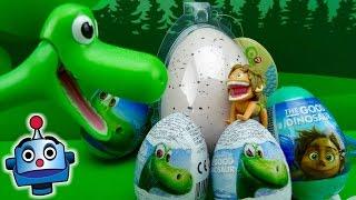 getlinkyoutube.com-Arlo abre Huevos Sorpresa con Bebé Dinosaurio