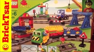 getlinkyoutube.com-LEGO DUPLO 5609 Deluxe Train Set Review and Play and Compare - Building Toy