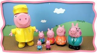 getlinkyoutube.com-ГИГАНТСКАЯ игрушечная Свинка Пеппа и игрушки для ванны - СЕМЬЯ Открываем играем лепим из Play Doh