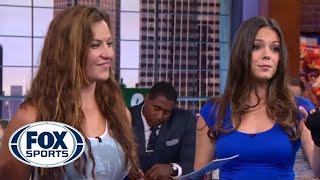 getlinkyoutube.com-Miesha Tate Teaches Katie Nolan MMA Takedowns