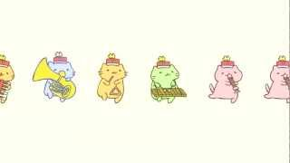 getlinkyoutube.com-みっちりねこマーチ - MitchiriNeko March - Cute cat characters in a marching band!