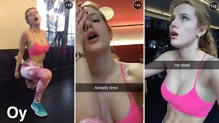 getlinkyoutube.com-Bella Thorne doing gym exercises  | January 31st 2016 | Full Snapchat Story