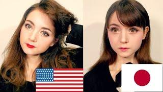 getlinkyoutube.com-American VS Japanese Makeup