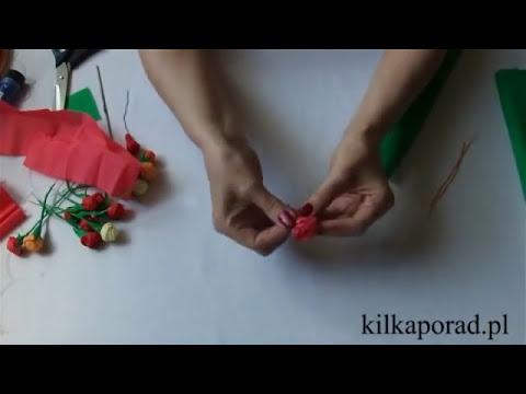 Jak zrobić różyczki z bibuły